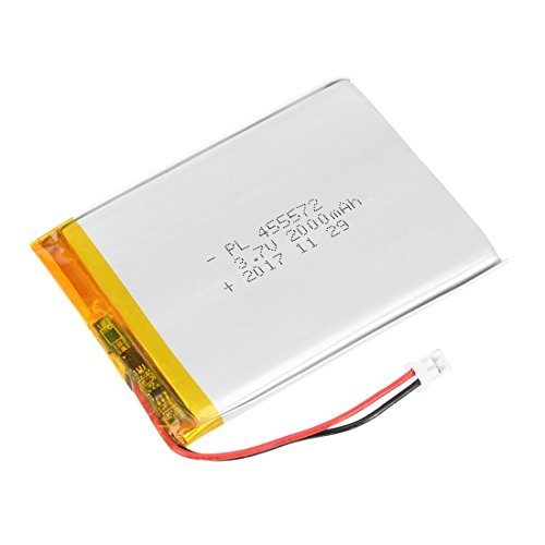 uxcell Power Supply DC 3.7V 2000mAh 455572 Li-ion Rechargeable Lithium Polymer Li-Po Battery