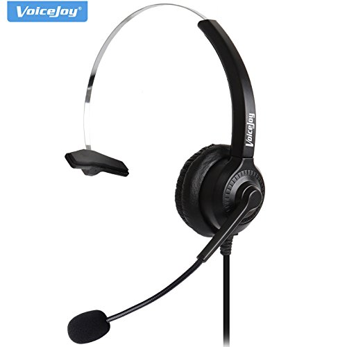 (Office Headset with RJ9 Plug for Avaya 1608 9630 9640 9650 9620,GrandStream GXP-2130 2140 2160 Yealink T20P T22P T26P T28P Phones)