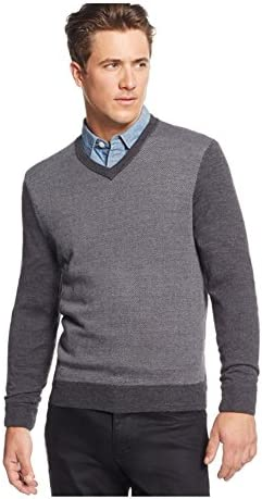Club Room Mens Merino Wool Herringbone Pullover Sweater