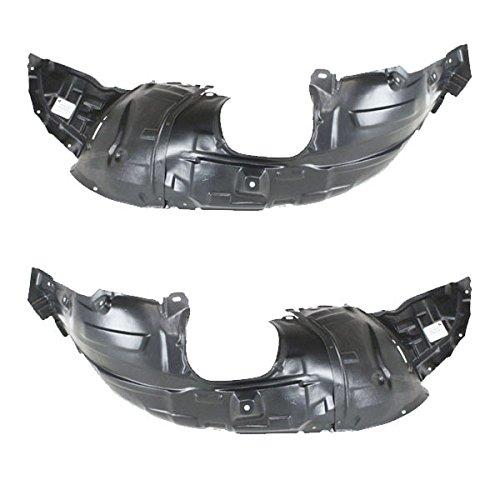 Koolzap For 04-09 Mazda3 Front Splash Shield Inner Fender Liner Panel Left /& Right SET PAIR