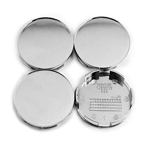 (58mm/ 57mm Silver ABS Car Wheel Center Caps Set of 4 for)