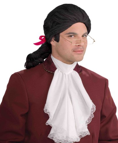 Costumes Wig Historical (Forum Novelties Men's Historical Colonial Costume Wig, Black, One)