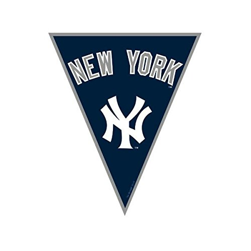 fan products of Amscan Timeless New York Yankees Major League Baseball Pennant Banner, 12', Blue