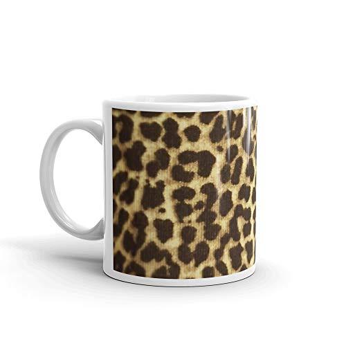 Leopard Print 1 Mug 11 Oz White Ceramic
