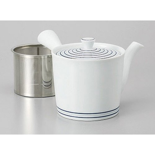 Arita yaki quilt Arita yaki white porcelain vortex SS middle teapot [10.5 x 10.5 cm 425 cc] Ryokan Ryokan Japanese food machine restaurant business use