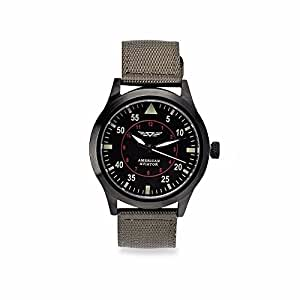 AS SEEN ON TV y Nailon Casual Reloj de Cuarzo Hombre de Metal, Color: