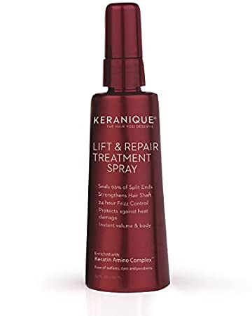 Keranique Lift and Repair Treatment Spray, 3.4 Fl Oz – Keratin Amino Complex, Free of Sulfates, Dyes and Parabens | Increase Hair Strength and Elasticity | Improve Dry and Weak Thinning Hair