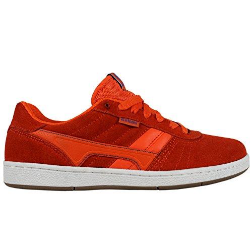ETNIES Skate Skateboard Shoes BARCI Orange/White/Gum Size 8