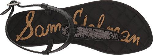 Cuero Mujer Small De Sequins Edelman Black Tira Tobillo Gigi Sam XPwqpx