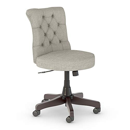 - Bush Furniture Salinas Mid Back Tufted Office Chair in Light Gray Fabric