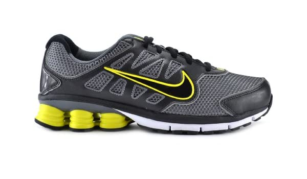 timeless design 01b94 5a533 Amazon.com   Nike Shox Qualify + 2 Men s Running Shoes Cool  Grey Black White Yellow 442114-018 (8 M)   Running