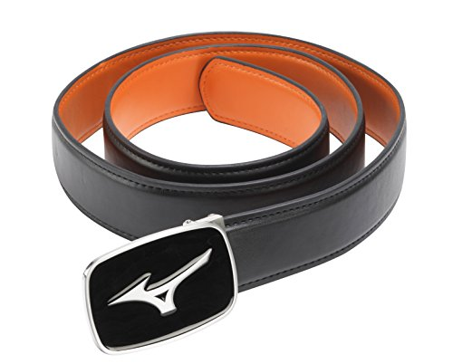 Mizuno Golf Unisex Plain Leather Belt - One Size - - Mizuno Black Belt