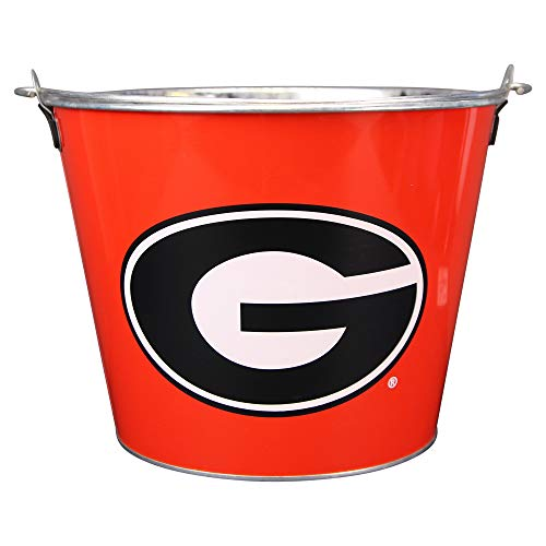 Collegiate Full Color Beer Buckets (Holds 5+ Beers and Ice)(Georgia Bulldogs (Red))