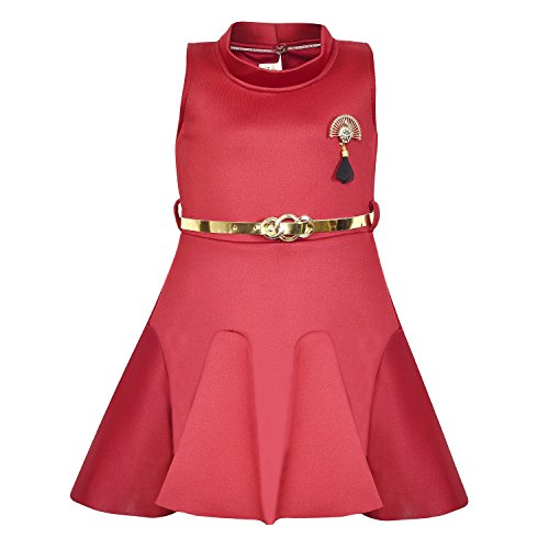 0baf9fb37394 Wish Karo Baby Girls Japan Satin Party Wear Frock Dress - (fe2438rd) - Buy  Online in KSA. Apparel products in Saudi Arabia. See Prices, Reviews and  Free ...