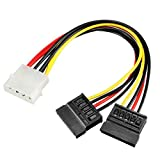 Best uxcell SATA Power Cables - uxcell LP4 Male to Dual SATA Female Power Review