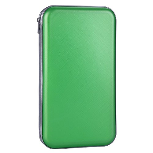- CD Case,COOFIT 80 Capacity DVD Storage DVD Case VCD Wallets Storage Organizer Flexible Plastic Protective DVD Storage Green