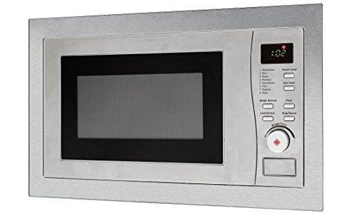 respekta, Forno a microonde a incasso in acciaio 1200Watt, colore: Argento, con timer 8programmi, 20litri