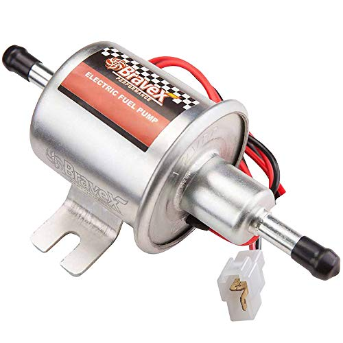 Universal 12V Low Pressure 2.5-4 PSI Gas Diesel Inline Electric Fuel Pump HEP-02A (2.5-4 PSI)