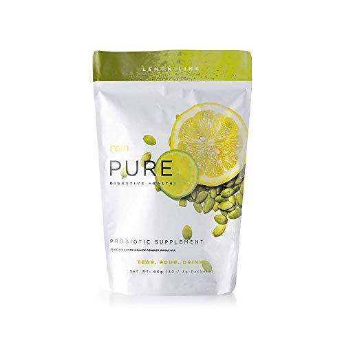 Rain Pure Digestive Health Probiotic Supplement Lemon Lime Powder Drink Mix - 30 Packets