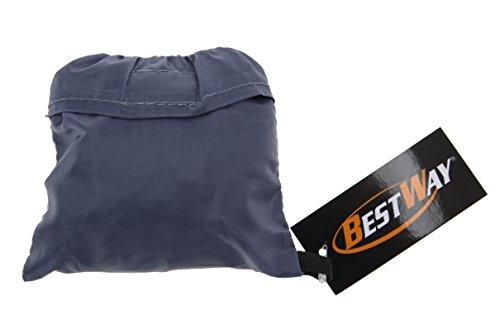 BESTWAY Regenhülle Regencover für Rucksack, Schulranzen, Rucksacktrolley mit Schutztasche GRAU