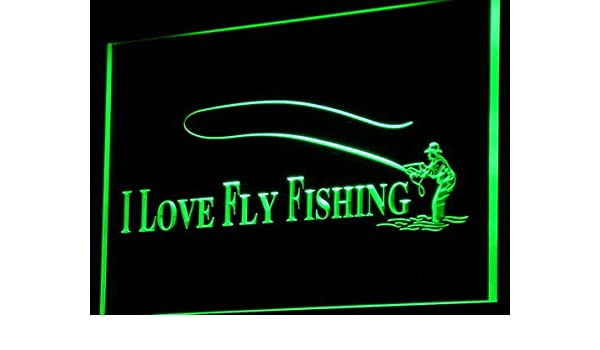i729-g Fly Fishing Fish Shop Display Neon Light Sign