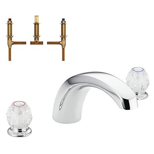 (Moen KRTCH-D-T999CR Chateau 9-Inch Roman Tub Faucet, Chrome)
