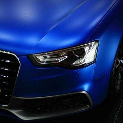 Blau 0,5m x 1,52m speedwerk-motorwear 3D Chrom Matt Ocean Blue Metallic mit Luftkan/älen,Car Wrapping Folie