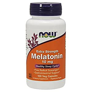 NOW Melatonin 10mg,100 Veg Capsules