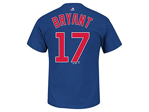 - Majestic Kris Bryant Kids Chicago Cubs Blue Name and Number Jersey T-Shirt Medium 5-6