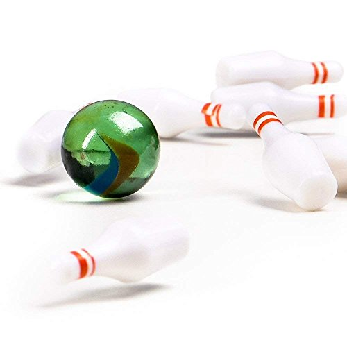 Miniature Bowling Game Set -24 Pack Deluxe - for Kids, Playing, Party, Fun, Boys, Girls, Bowlers Etc.- Kidsco by Kicko (Image #3)