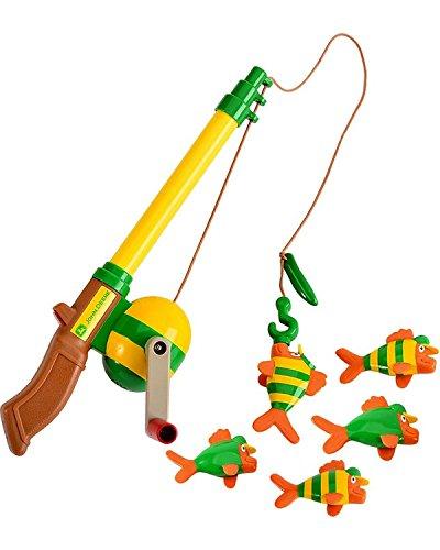 John deere boys 39 electronic sounds fishing rod toy set for Fishing toy set