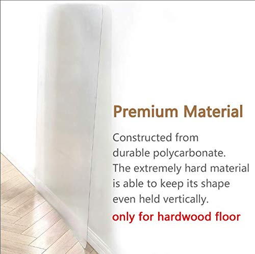 Polycarbonate Office Chair Mat for Hardwood Floor, Floor Mat for Office Chair Rolling Chairs -Desk Mat Office Mat for Hardwood Floor-Sturdy Durable, Immediately Flat When Taken Out of Box 36 x48