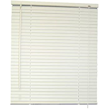 Amazoncom DESIGNERS TOUCH 1Inch Vinyl Mini Blinds White