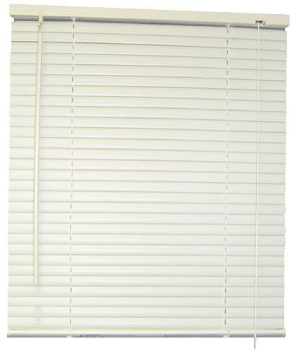 DESIGNER'S TOUCH 1-Inch Vinyl Mini Blinds, White, 59X48 In. - 833366 Designer's Touch