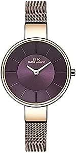 IBSO PurpleStainless Steel Women Dress Watch, IBSO-2249SS