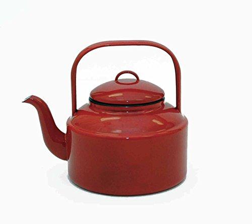 Red Enamelware Tea Kettle-2.5qts
