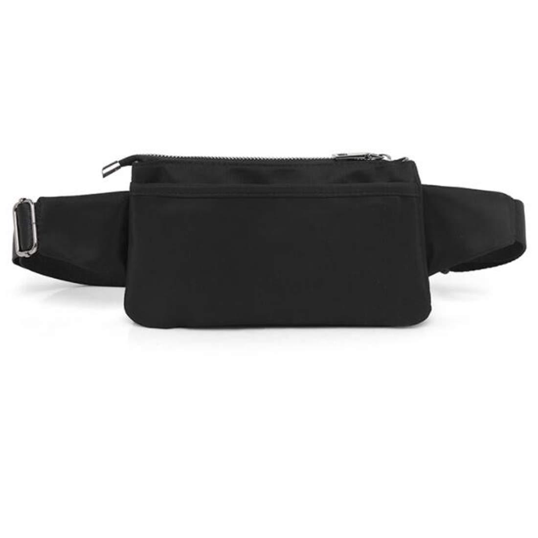 Color : Black RABILTY Waist Bag West Pouch Body Bag Fashion Waterproof Super Lightweight Sports