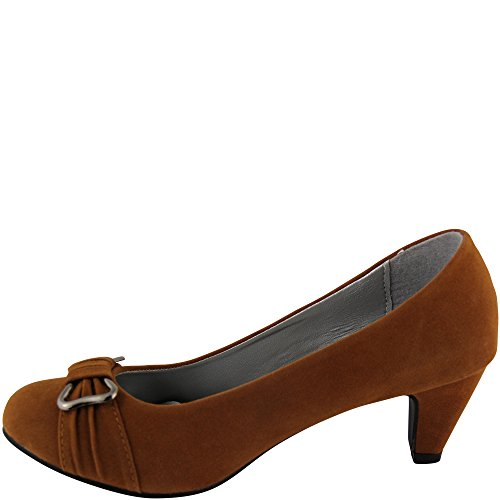 Unbekannt - Zapatos de vestir de Material Sintético para mujer - beige camel