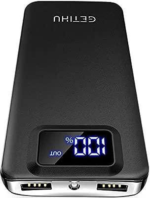 Amazon.com: GETIHU cargador portátil, pantalla LED 10000 mAh ...