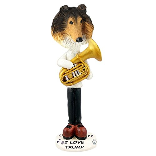 Sable Collie Tuba Doogie Collectible Figurine (Sable Collie Figurine)