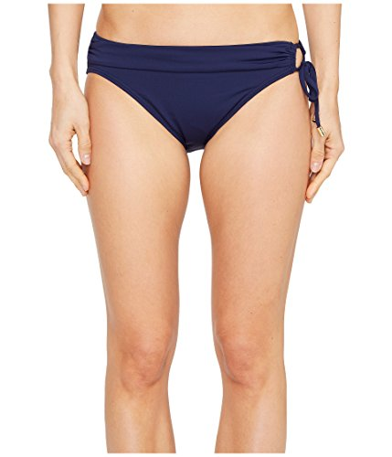 Tommy Bahama Women's Pearl Hipster Bikini Bottom with Ring Mare Navy Swimsuit Bottoms