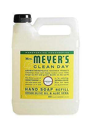 Mrs. Meyer's Clean Day Liquid Hand Soap Refill, Honeysuckle, 33 Ounce -