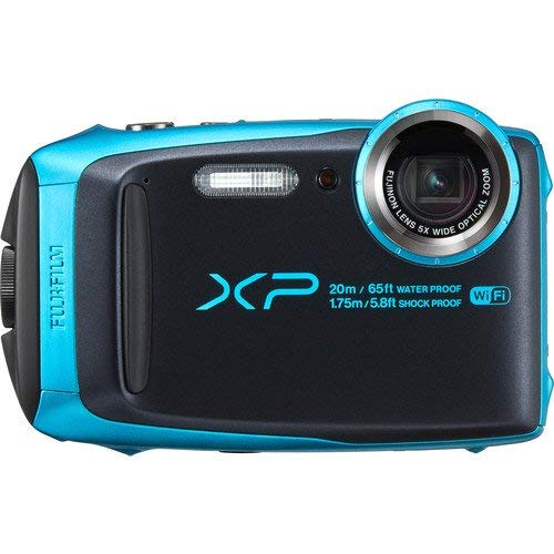 Fujifilm FinePix XP120 Waterproof Digital Underwater Camera USA Model (Renewed) (Sky Blue)