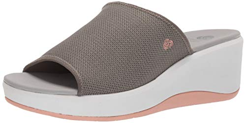 CLARKS Women's Step Cali Bay Sandal Dusty Olive Textile Knit 100 M US