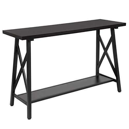 Flash Furniture Hancock Park Collection Rustic Espresso Wood Finish Console Table
