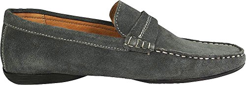 Ring On Mens Dress Casual Grey Moccasin Suede Slip Horse Bit Masimo Driving PEndqxEw