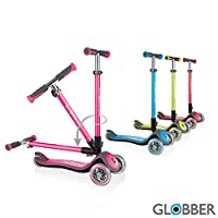 Globber Elite Deluxe with Lights 444-410 Deep Pink