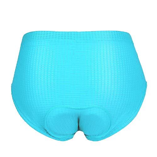 (beroy Women Cycling Shorts Underwear,Ladies Bike Shorts with Padding(XL Blue))
