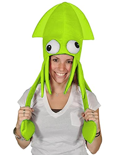 Squid Costume For Adults (Novelty Green Squid Octopus Hat Costume Party Hat Cap)