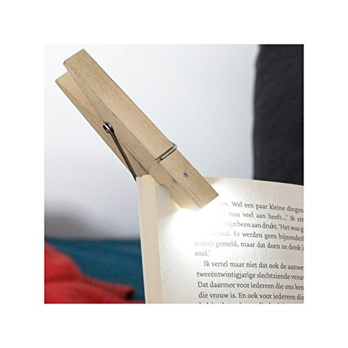 Kikkerland Reading Book Light Clothespin Clothes Peg Clip On Tablet Travel Gift by PLOV RNKLIGH